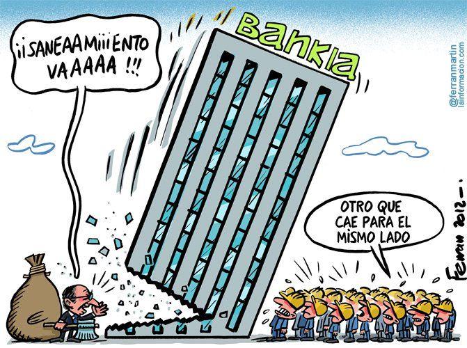 Además de los 4.500 millones de euros inyectados ya a Bankia después se ha estimado que necesitaban 7.000 más, después 9.000 y ahora ya vamos por 15.000 millones de euros, cifras que han variado en tan solo...¡Una semana!. Señor De Guindos, ¿sabe alguien de los suyos sumar y sacar cuentas?. Eso como ayudas directas porque hay que recordar que Bankia suma entre el FROB y las emisiones más de 57.000 millones de euros.     ¿De verdad seguís pensando que no había que dejarla caer?