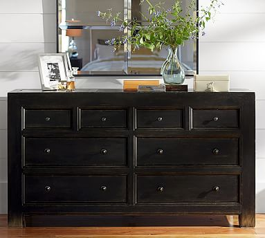 Best Dawson Dresser Weathered Black Finish Chest Of Drawers 640 x 480