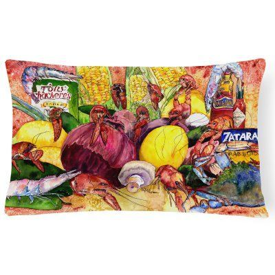 Carolines Treasures Crawfish Meal with Spices Rectangle Outdoor Pillow - 8698PW1216