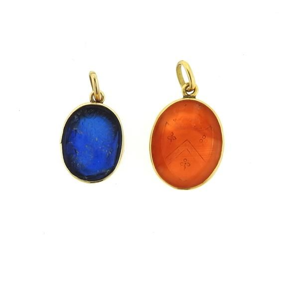 14k gold intaglio glass carnelian pendant lot featured in our 14k gold intaglio glass carnelian pendant lot featured in our upcoming auction on october 20 mozeypictures Gallery