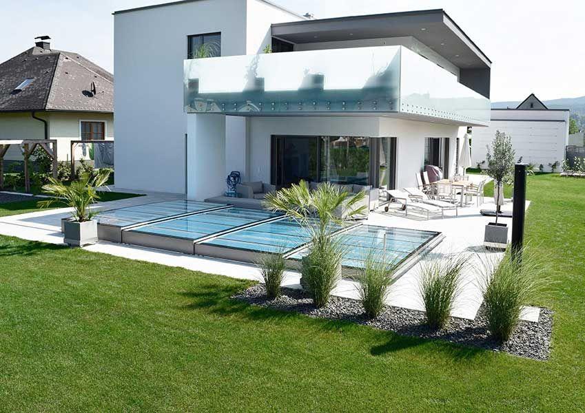 Kratzfeste pool berdachung aus echtglas made in austria berdachungen garten - Landschaftsarchitektur osterreich ...