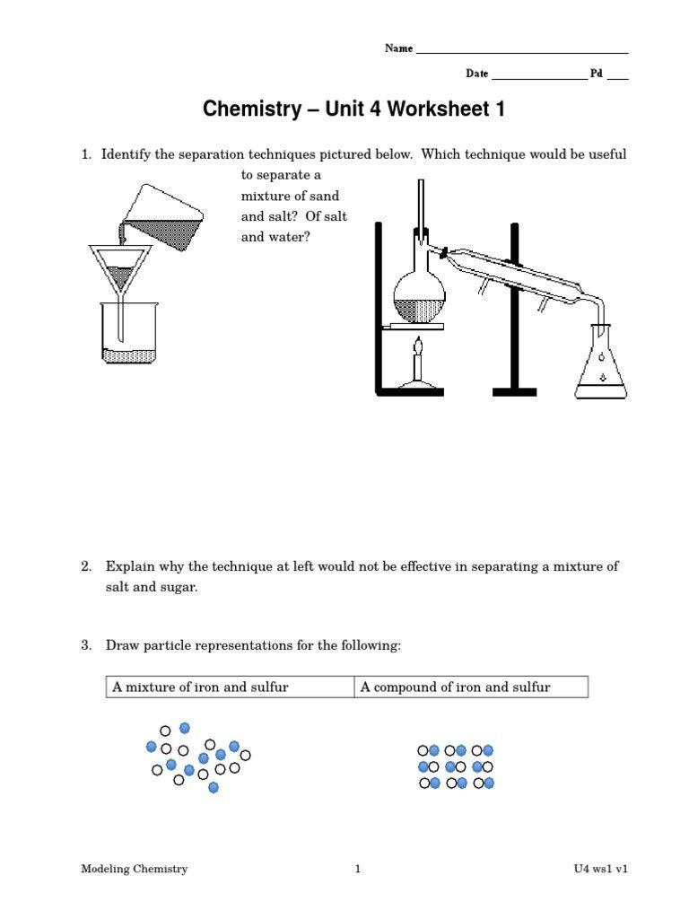 1 Worksheets Separating Mixtures Printable Worksheets Separating Mixtures Mixtures Worsheet In 2020 Chemistry Worksheets Separating Mixtures Covalent Bonding Worksheet