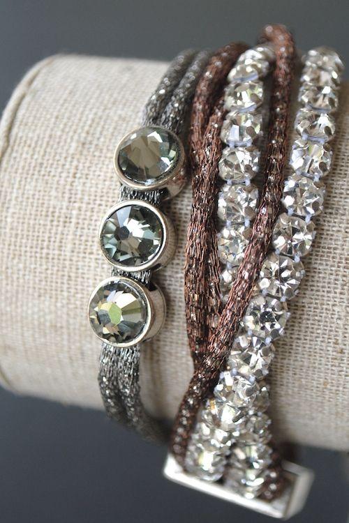 Swarovski Rainbow Crystal Wrap Rosary Bracelet