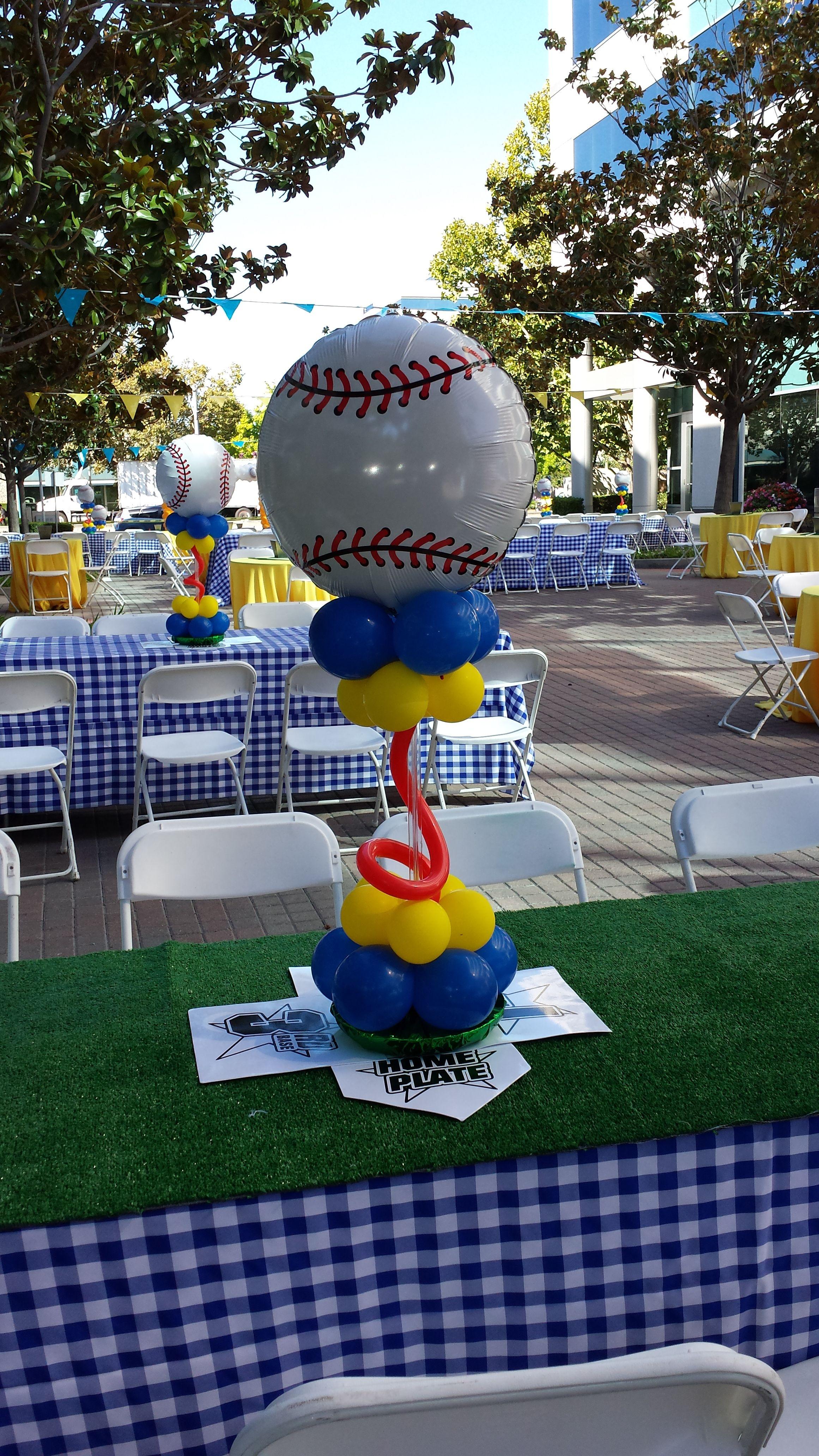 Sports Themed Balloon Decor Pinterest O The Worlds Catalog Of Ideas