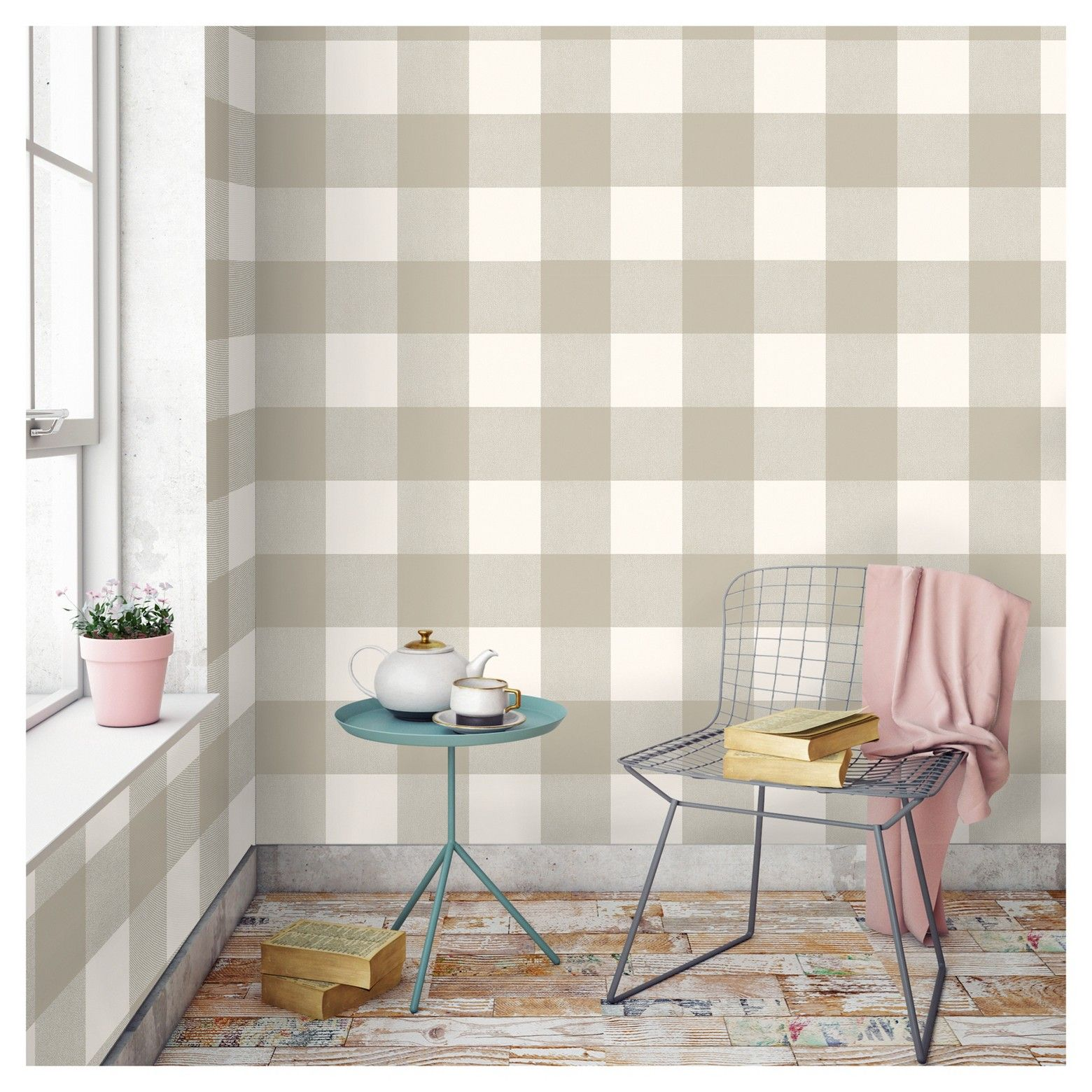 Devine Color Buffalo Plaid Peel & Stick Wallpaper Twig and