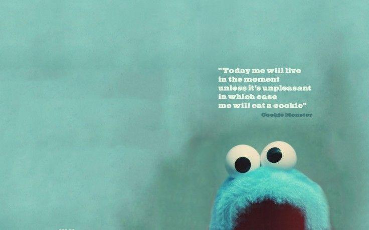 Cookie Monster Quote Hd Wallpaper Desktop Background Cookie Monster Quotes Monster Quotes Monster Cookies