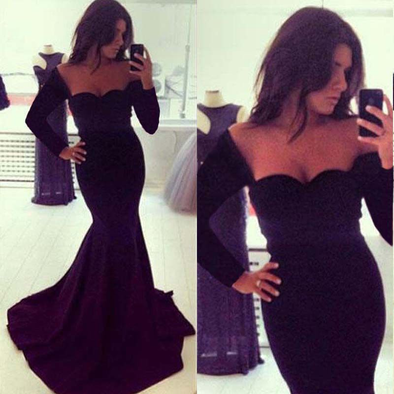 c24df08d27 New Sexy Women Long Sleeve Prom Ball Cocktail Party Dress Formal Evening  Gown