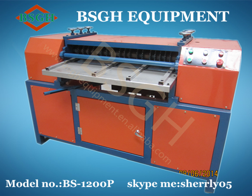 Pin on cable wire recycling machine