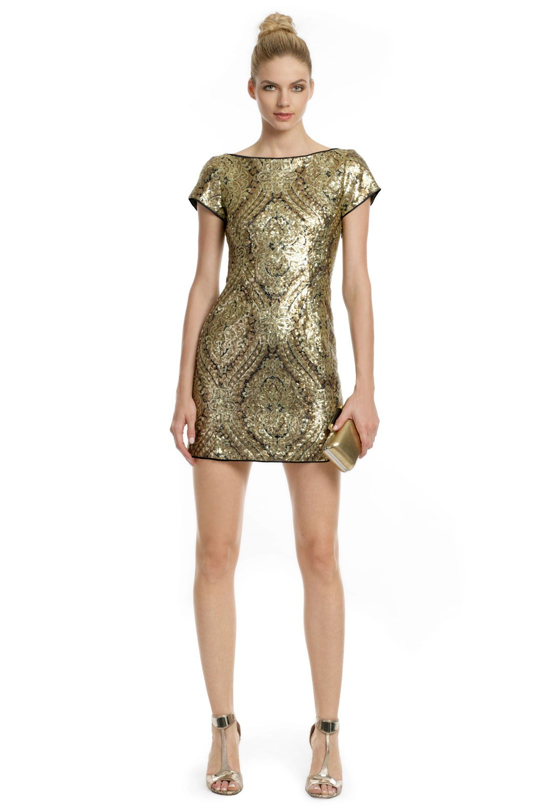 14ee6c112 A gold mini-dress is perfect to wear to Vegas Nocturne and dance the night  away at Rose. Rabbit. Lie. #P2Shops