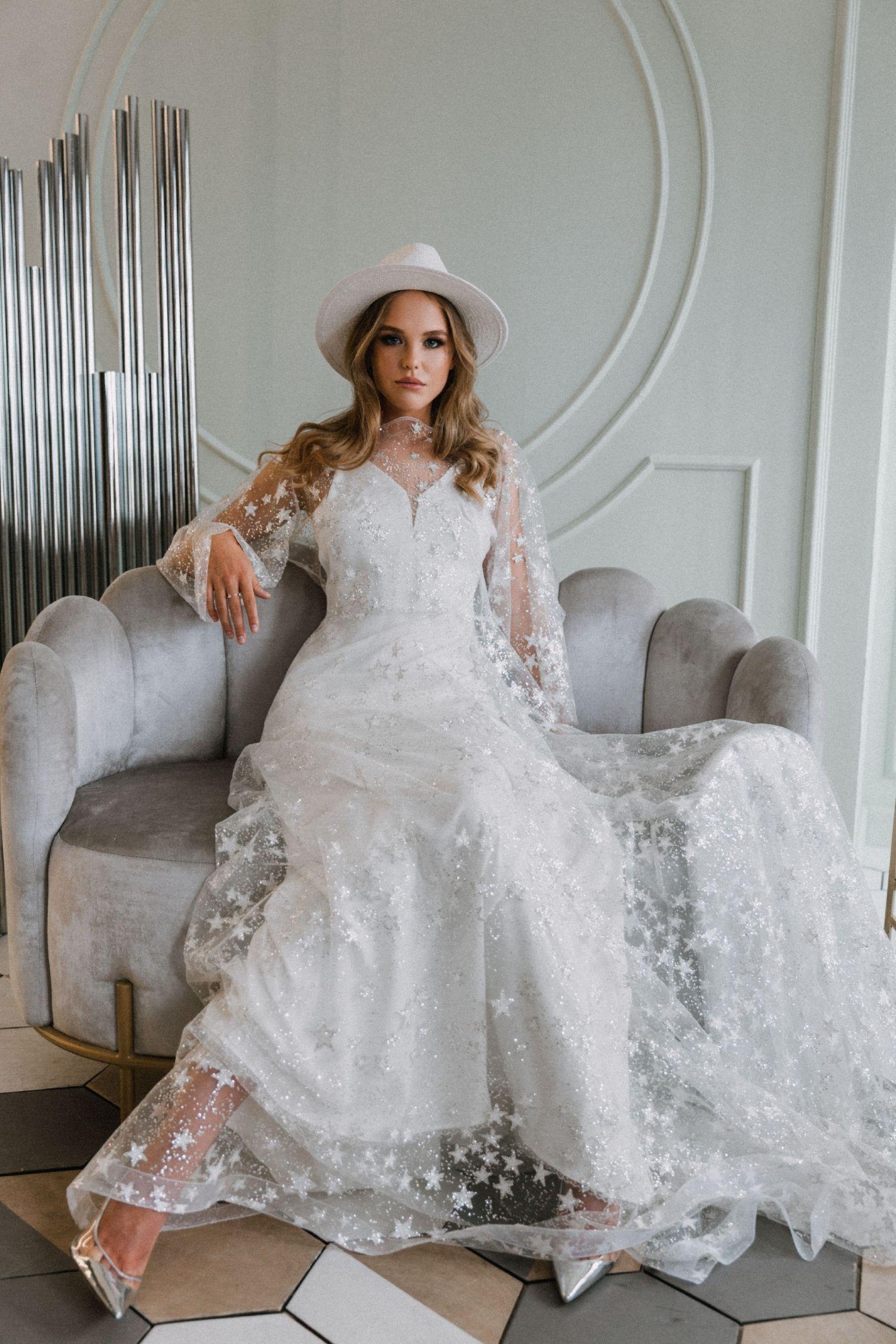 Bohemian Wedding Gown By Dream Dress Mesh Bridal Dress Summer Reception Gown Light Star Dr Trendy Wedding Dresses Bohemian Wedding Gown Wedding Dress Trends [ 2250 x 1500 Pixel ]