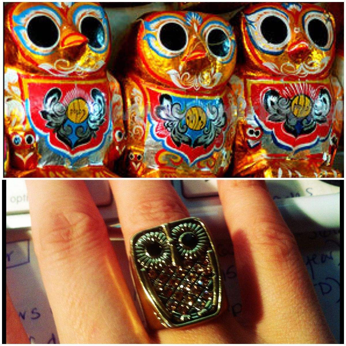 Owls Are A Symbol Of Luck And Fortune In Burma This Piece Of Ring Bling I Found At Wink Beauty Looks Just Like The Lucky Indian Elephant Skull Tattoo Tattoos