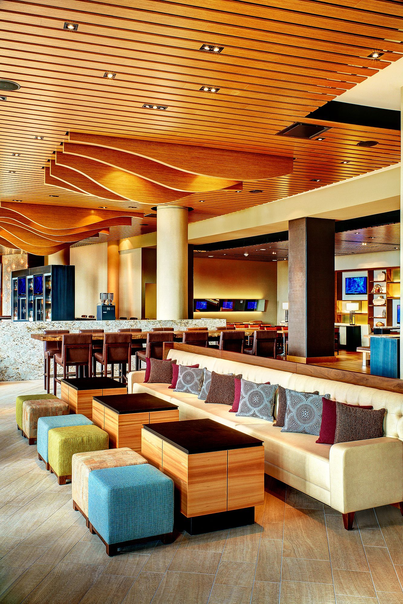 Our Main Restaurant Area Features Televisions, And A Media