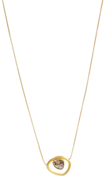 Mallary Marks Brown Diamond Mid-Century Necklace