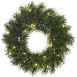 Photo of Christmas wreath with led lighting edelman