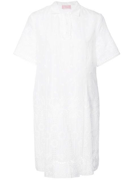 GIAMBA perforated decoration T-shirt dress. #giamba #cloth #dress