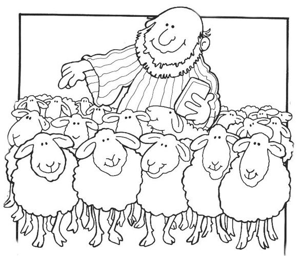 Extra Story Lesson Parable Of The Sheep Coloring Page