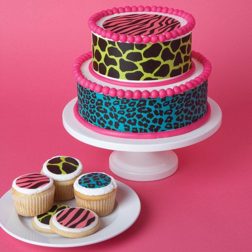 Walmart Cupcake Cake Designs Carpe Cupcakes Animal Print