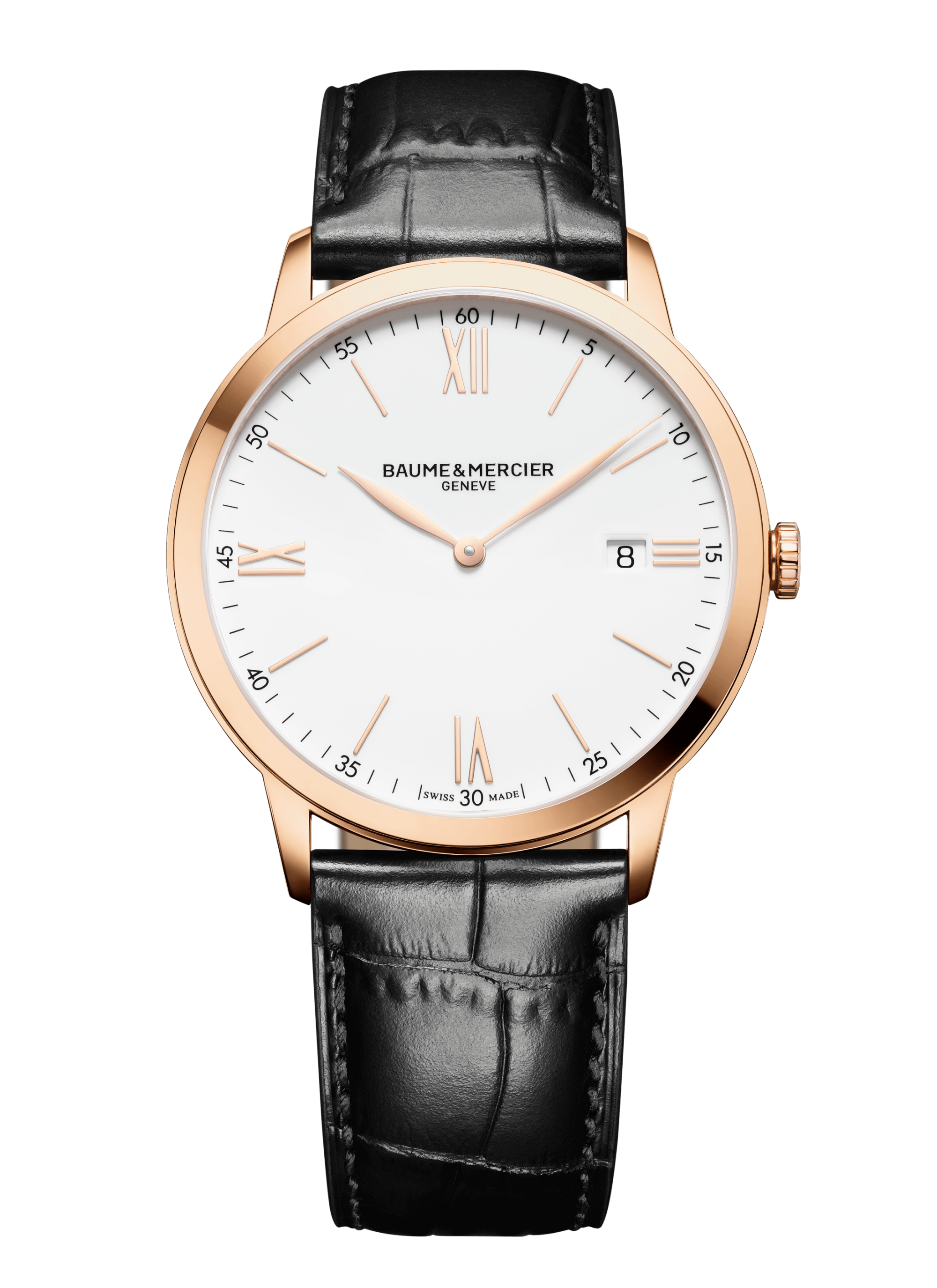 Classima 10441 Watch for men   Check Prices on Baume & Mercier   Black  leather strap, Baume mercier, Leather straps