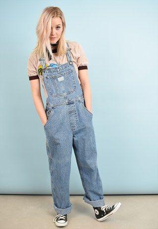 90s Vintage Blue Denim Levi S Dungarees Overalls Vulgar Overalls Outfit Overalls Vintage Blue Overalls Outfit