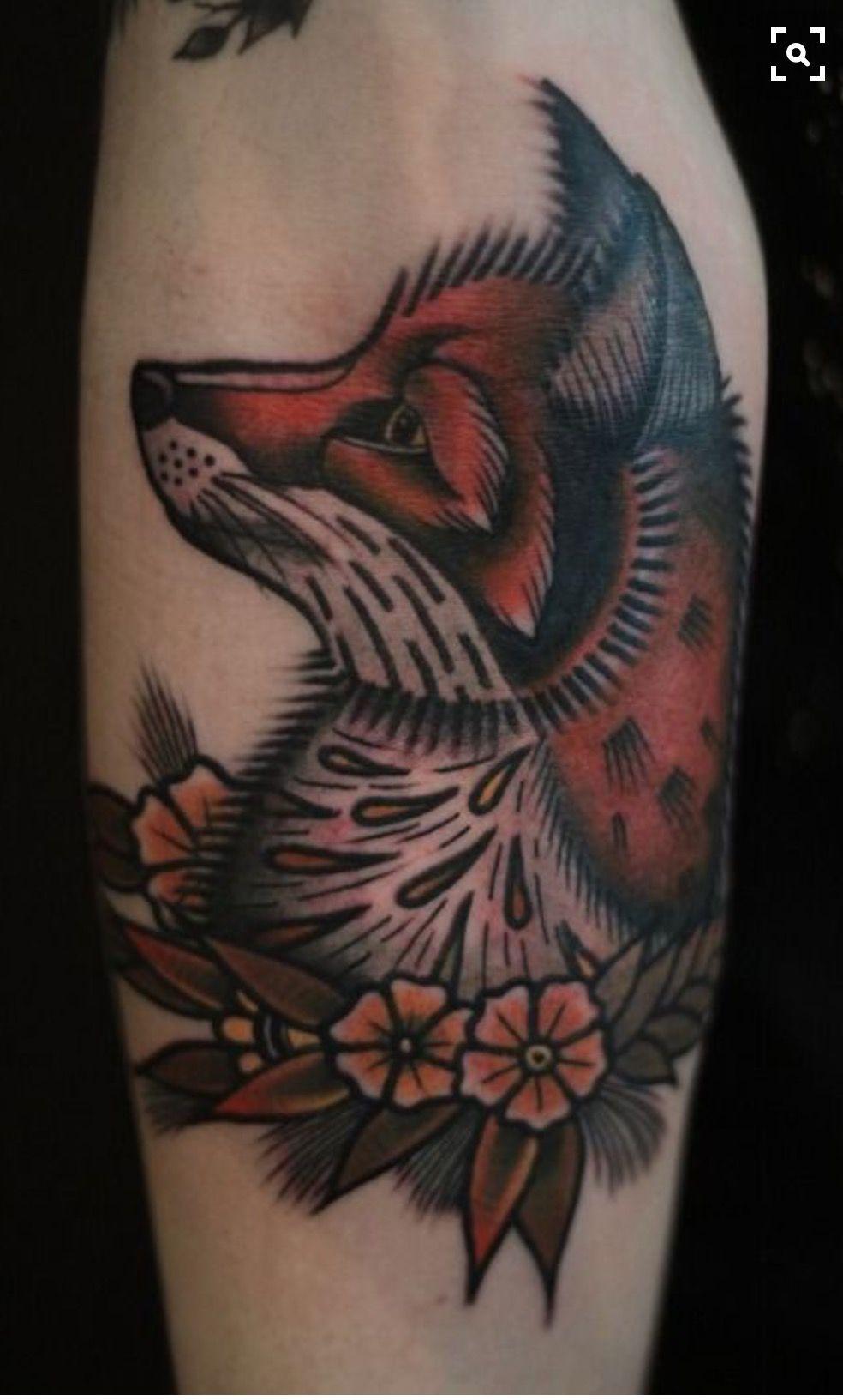 Pin By Mel Honkawa On Tattoos Traditional Tattoo Traditional Tattoo Sleeve Fox Tattoo