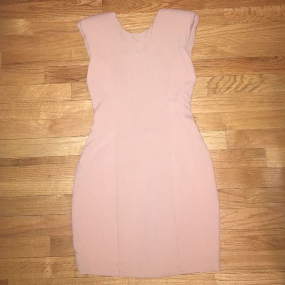 ASOS Dress Never worn open back, shoulder padded ASOS dress! Dresses