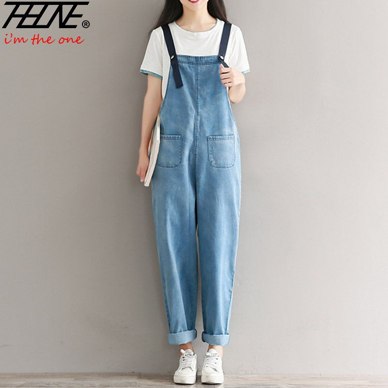 44bc2225cc97 2017 Denim Washed Jumpsuits Women Vaqueros Romper Full Length Pants Jeans  Skinny Overalls Suspender Female Slim Catsuit A209