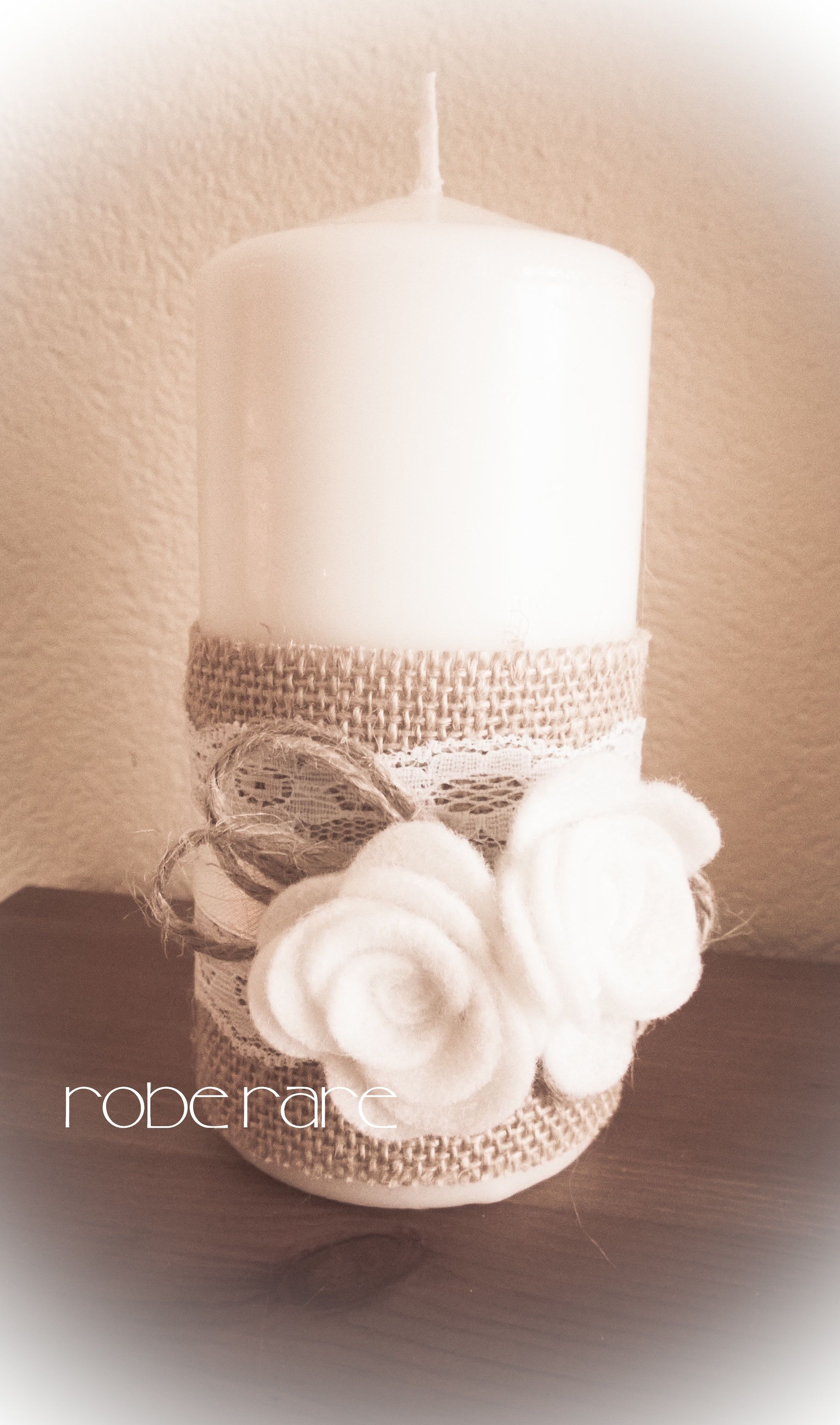 Candela shabby gyerty k candele di natale candele for Sedie decorate per natale