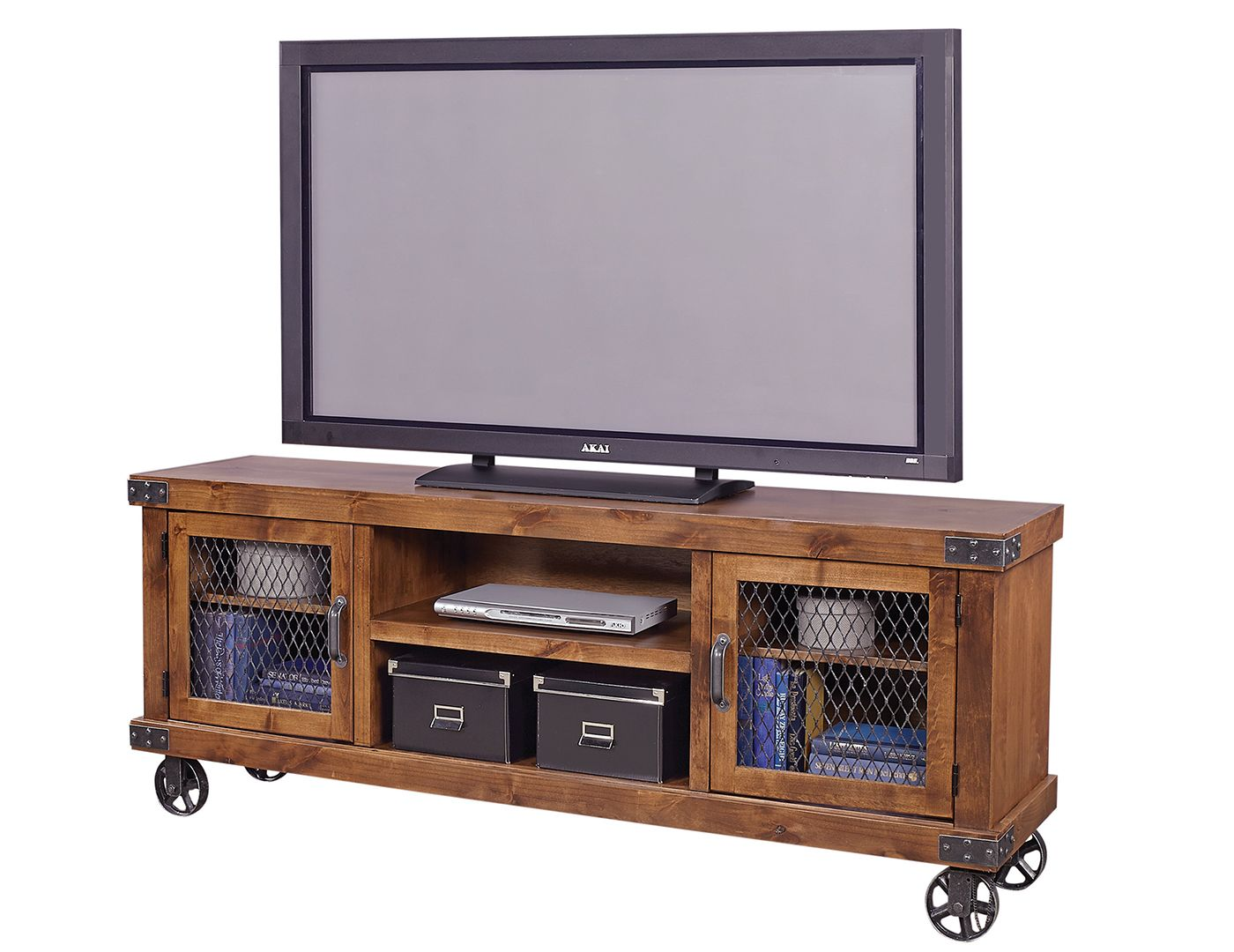 Shop For Aspenhome Industrial Console, And Other Living Room TV Stands At  Kittleu0027s Furniture In Indiana. Crafted Of Knotty Alder Veneers And Solids  With ...