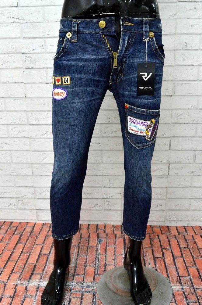 Jeans DSQUARED 2 Uomo Taglia 32 Pantalone Corto Man Slim Fit