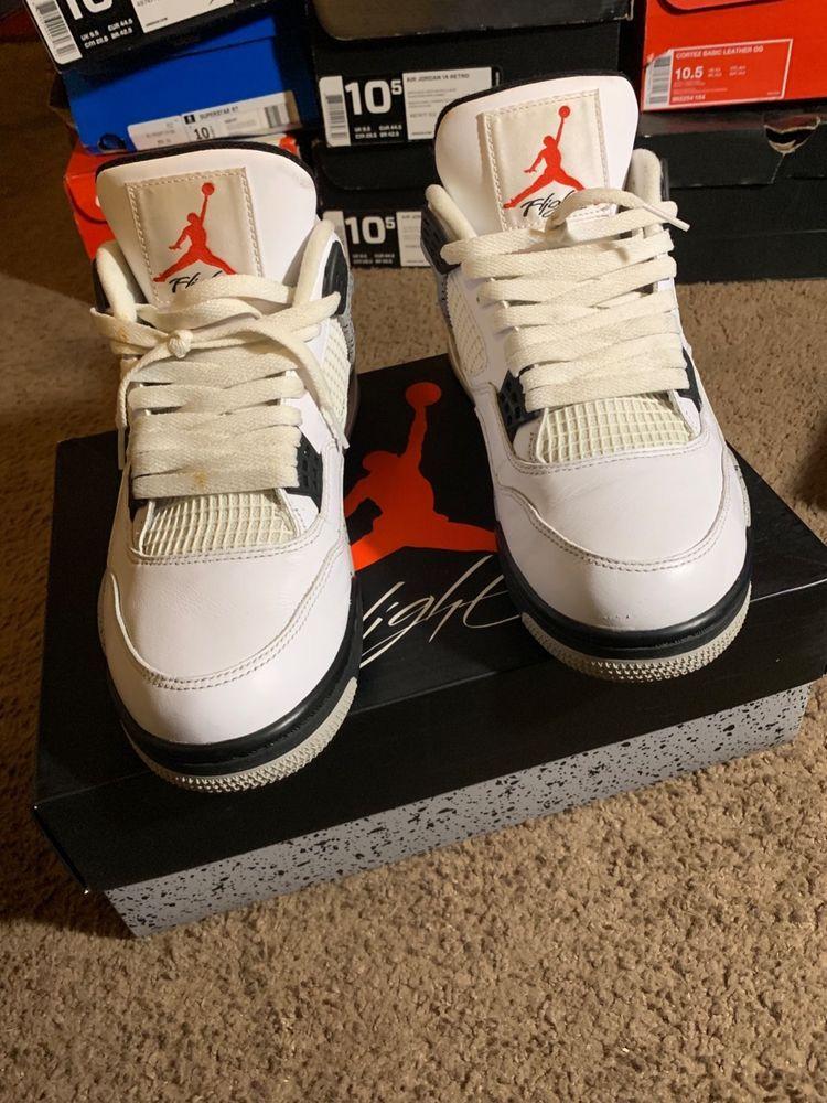 bcc102033b3d0e air jordan cement 4s  fashion  clothing  shoes  accessories  mensshoes   athleticshoes