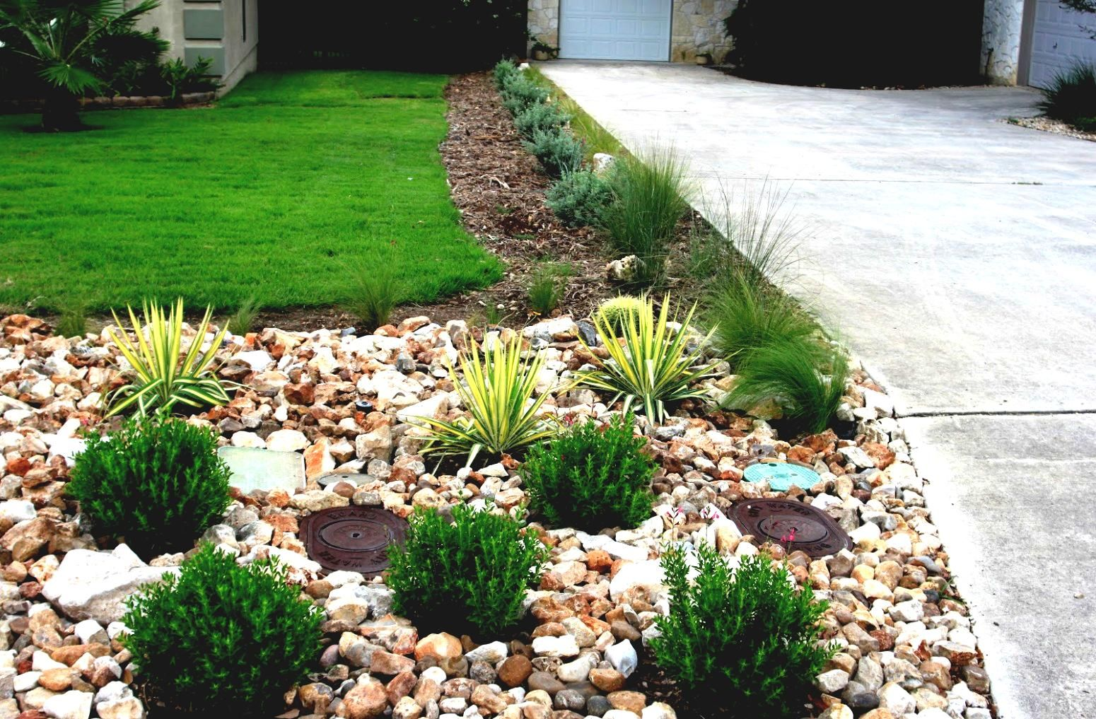 River Rock Front Yard Landscape Designs Plan Front Yard