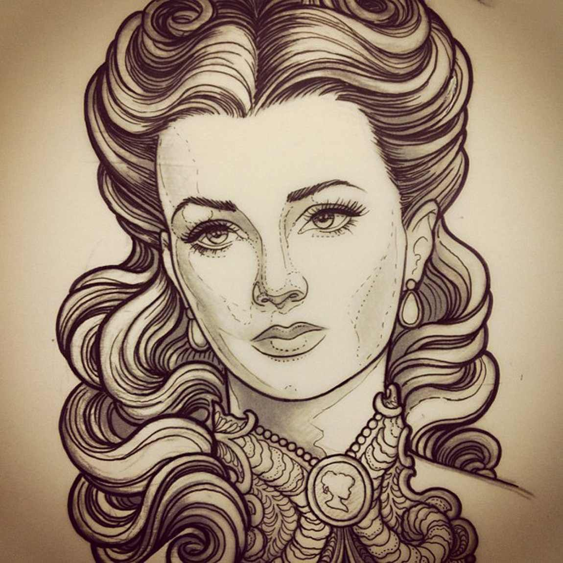 Pin by martin voss on Tattoos Portrait tattoo