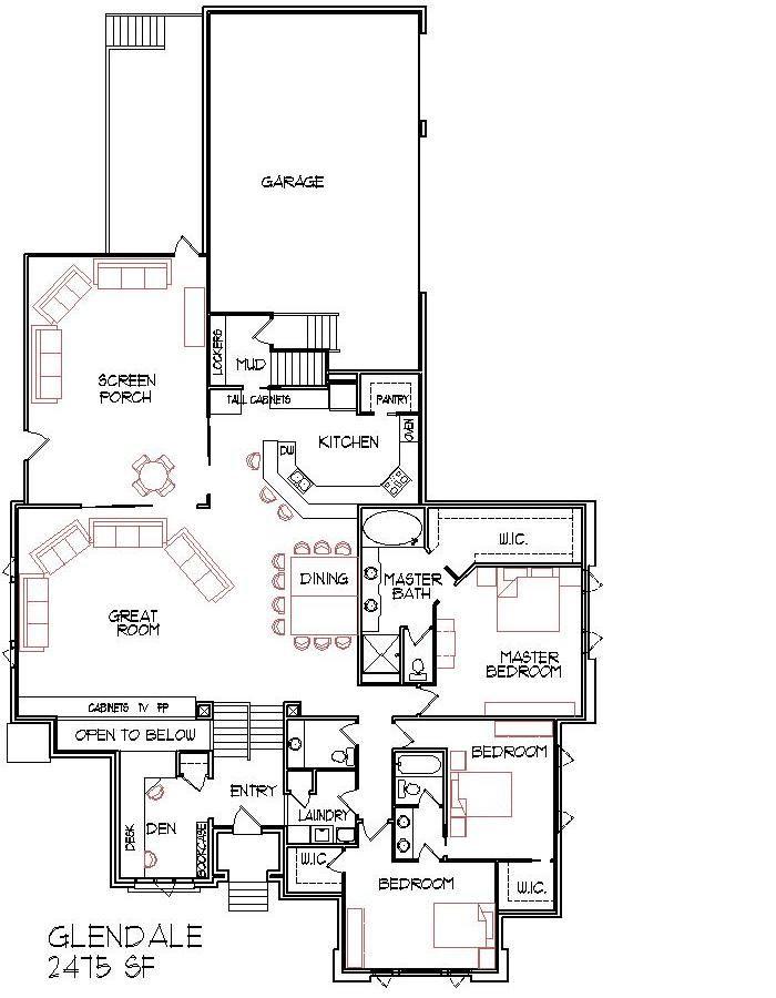 Modern Narrow Lot 2500 Sq Ft House Floor Plans Three