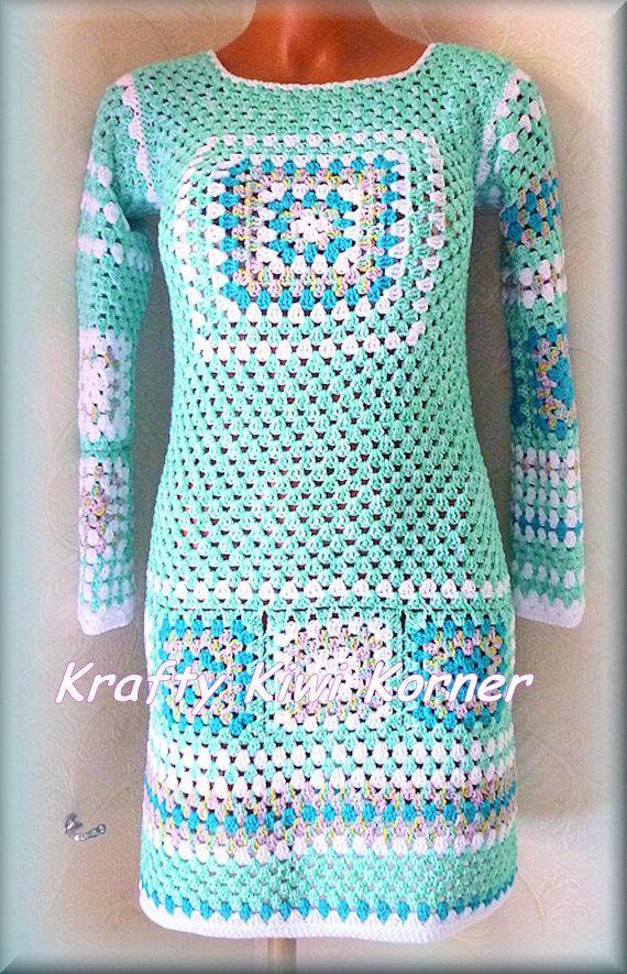 Crochet Lace Vintage-Inspired Granny Squares by KraftytKiwiKorner
