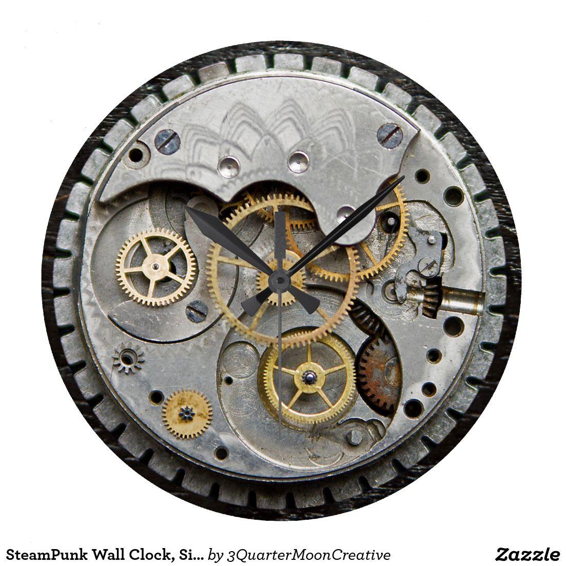 Steampunk wall clock silver clock acrylic clock wall clocks steampunk wall clock silver clock acrylic clock amipublicfo Images