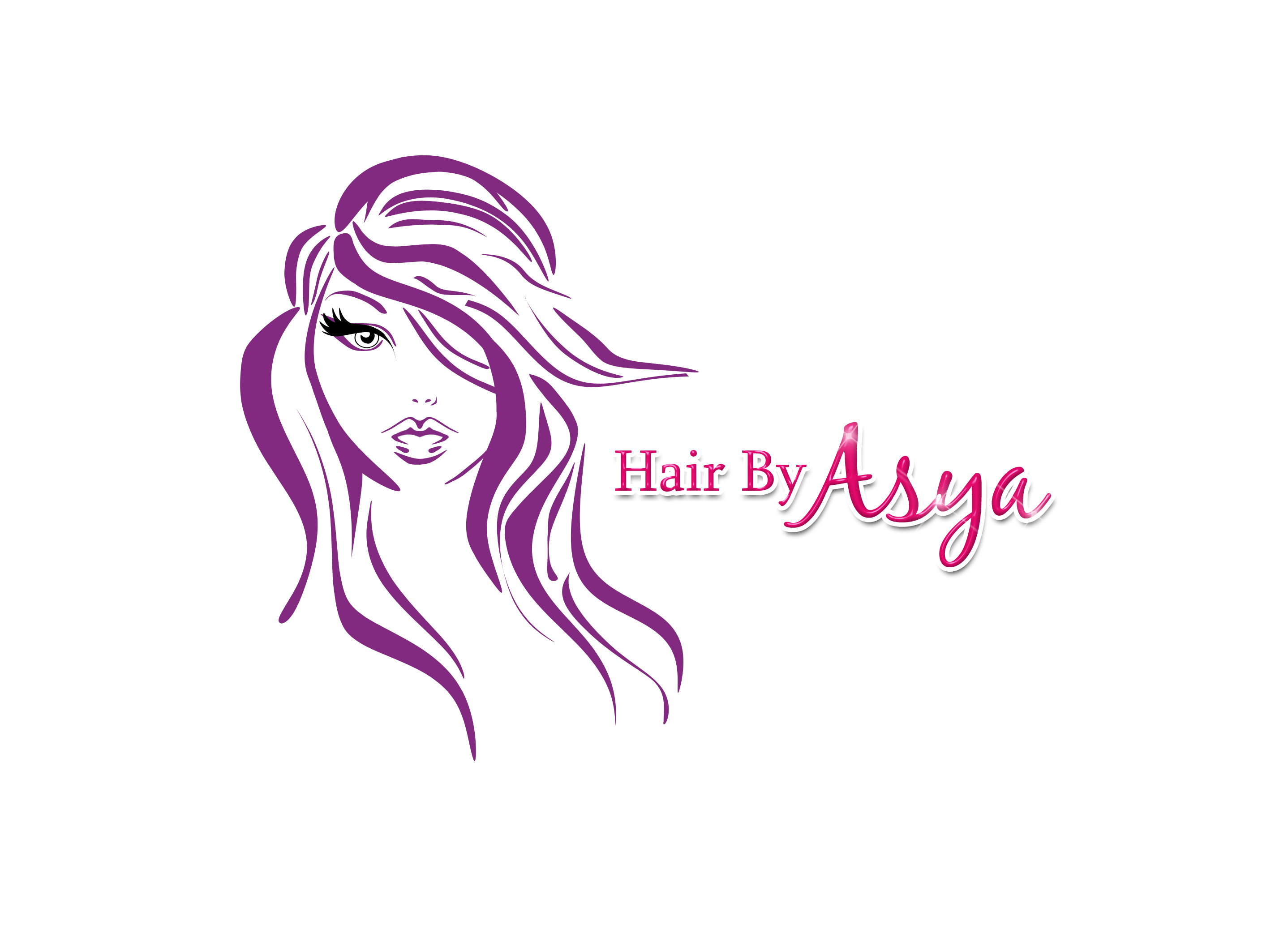 Hair by Asya Logo Paid.png (2876×2084) Hair salon logos
