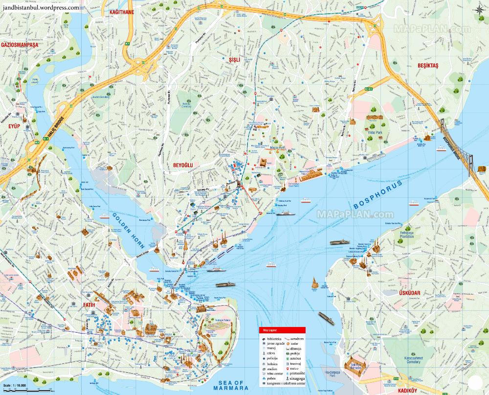 Pin By Ana Djordjevic On Svastara Istanbul Tourist Map Istanbul Map Travel English