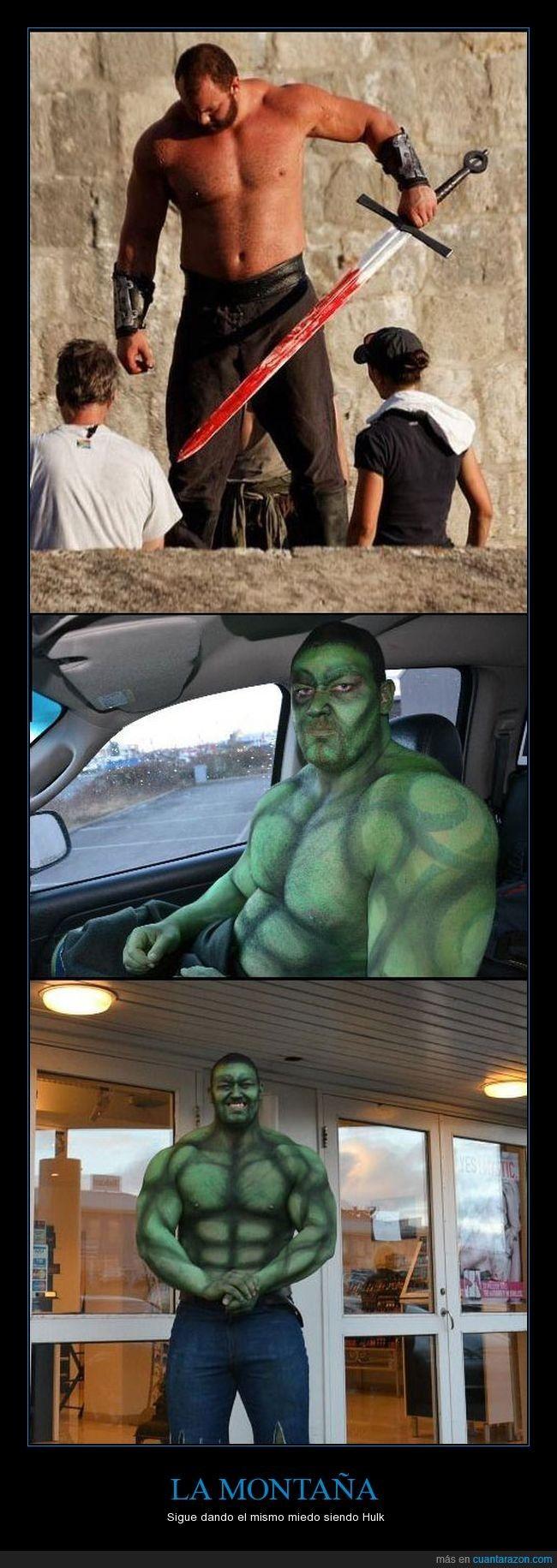 Piden a la Montaña de Juego de Tronos que acuda a una fiesta de niños vestido de Hulk. Y lo hace - Sigue dando el mismo miedo siendo Hulk   Gracias a http://www.cuantarazon.com/   Si quieres leer la noticia completa visita: http://www.estoy-aburrido.com/piden-a-la-montana-de-juego-de-tronos-que-acuda-a-una-fiesta-de-ninos-vestido-de-hulk-y-lo-hace-sigue-dando-el-mismo-miedo-siendo-hulk/