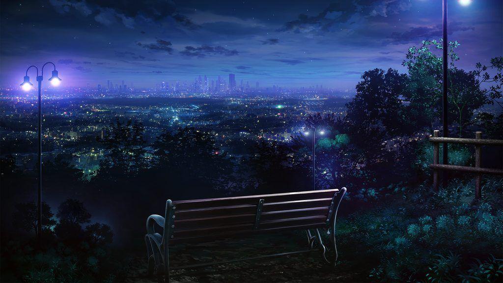 Random Anime Wallpapers Night Scenery Anime Scenery Scenery Wallpaper City night anime scenery wallpaper