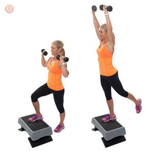 how to do stepup with overhead press  overhead press