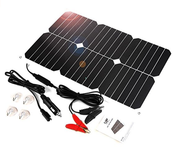 Allpowers Solar Battery Maintaner 18v 12v 18w Solar Car Boat Power Panel Charger Maintainer For Automobile Motorcyc Car Battery Charger Solar Car Solar Battery