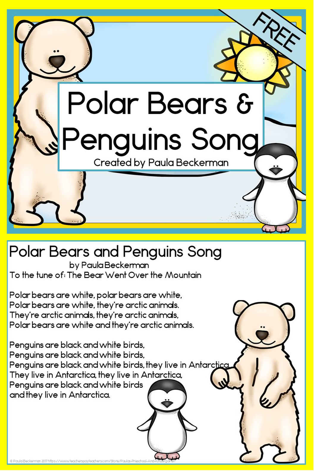 Polar Bears and Penguins Song FREE Penguin songs