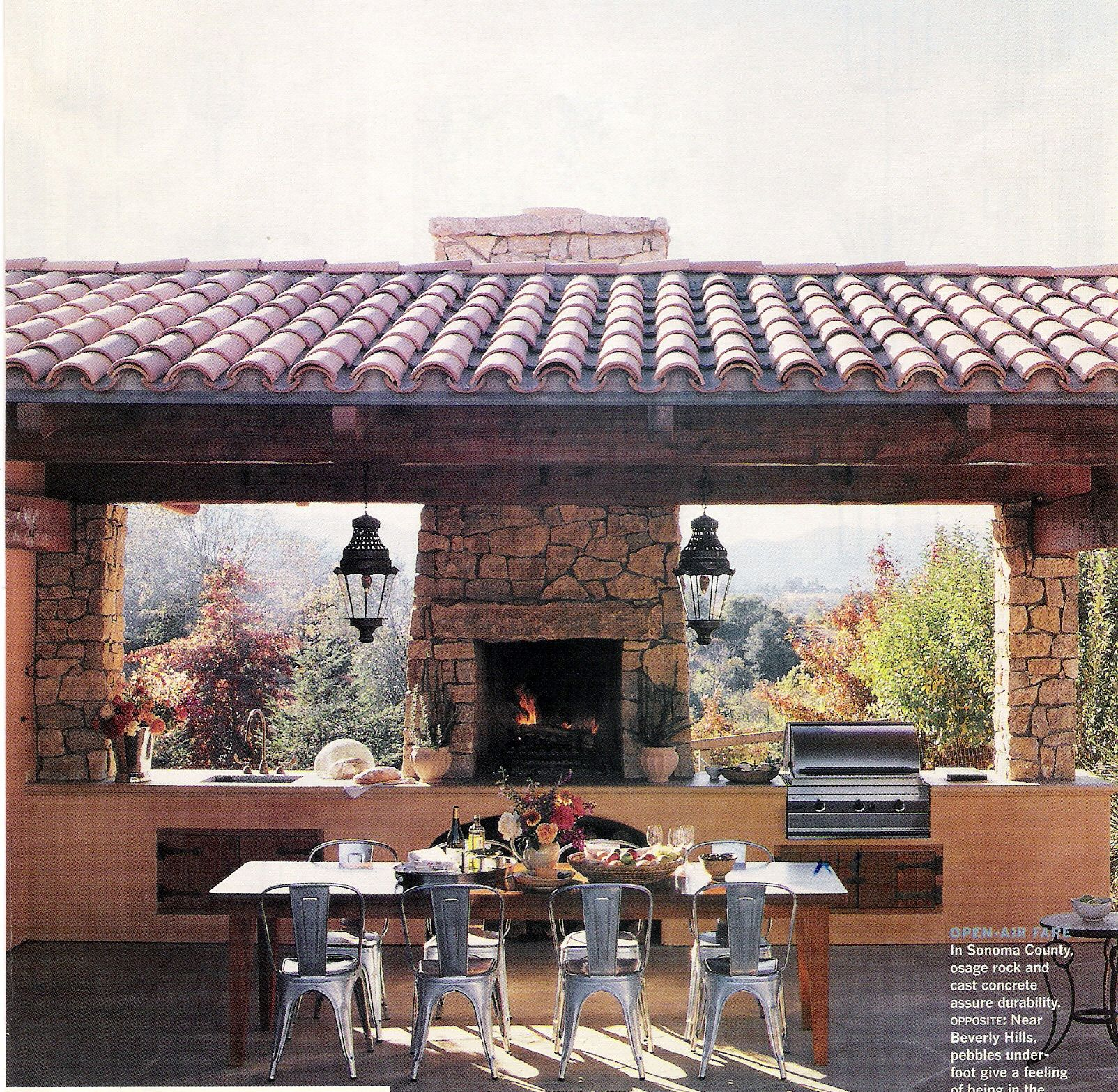 "I'm always drawn to the ""picnic shelter"" aesthetic for an ... on Indoor Outdoor Entertaining Areas id=47759"