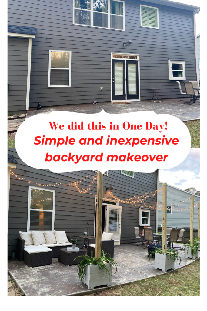 DIY backyard makeover!