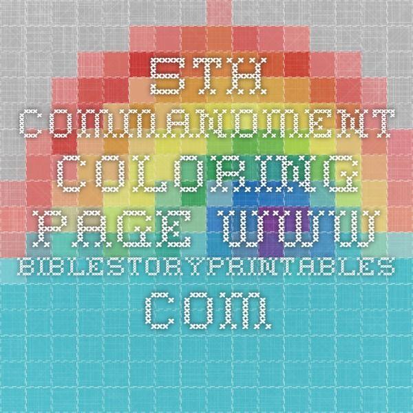 5th Commandment Coloring Page Www Biblestoryprintables Com