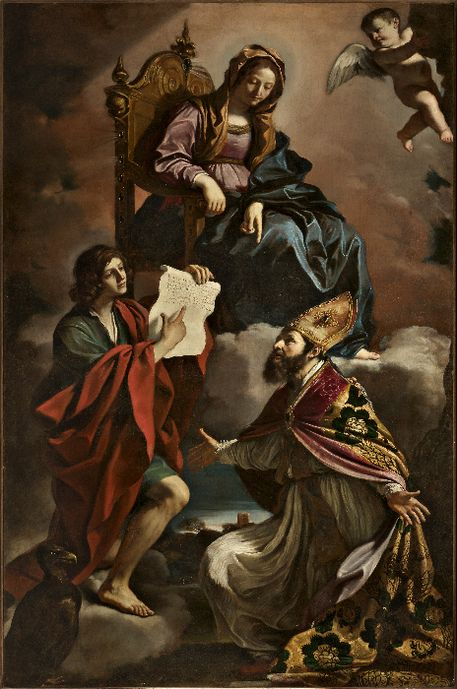 Guercino, Madonna and Saints