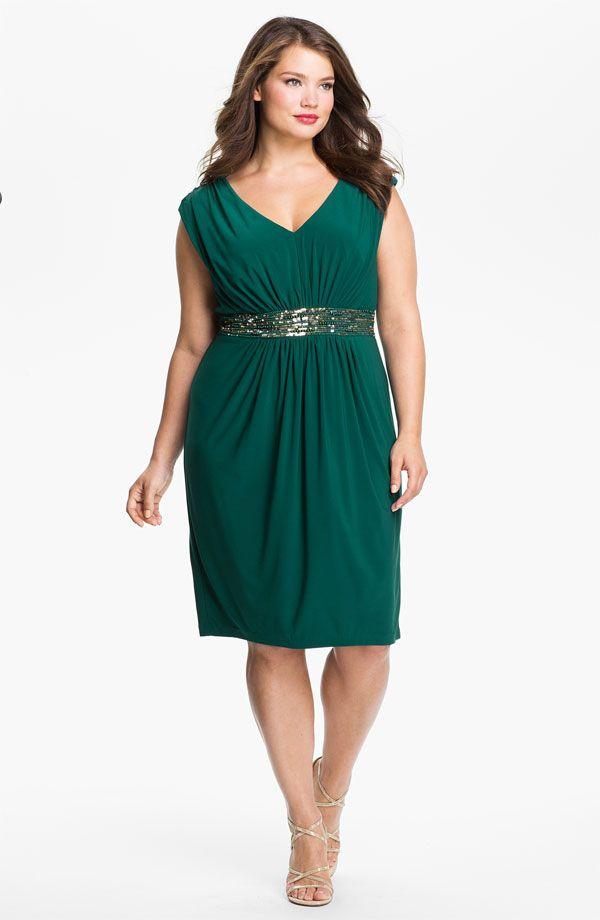 Plus size dress green
