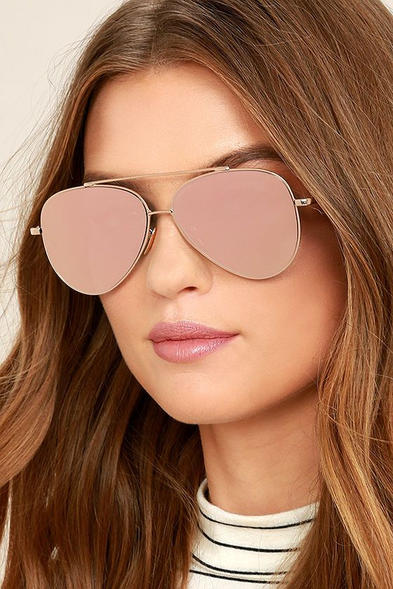 cf47afdbcdc The Perverse Toni Bologni Pink Mirrored Aviator Sunglasses are setting off  our style radar! These classic aviators get a chic update with shiny gold  ...