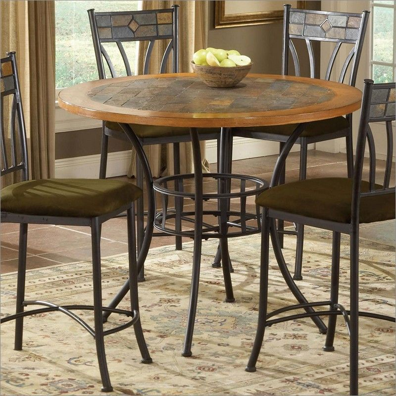 Red Rock Wood And Stone Top Pub Table By Bernards Furniture 4740 Pub Table Sets Pub Table Dining Table In Kitchen Wood pub tables sets