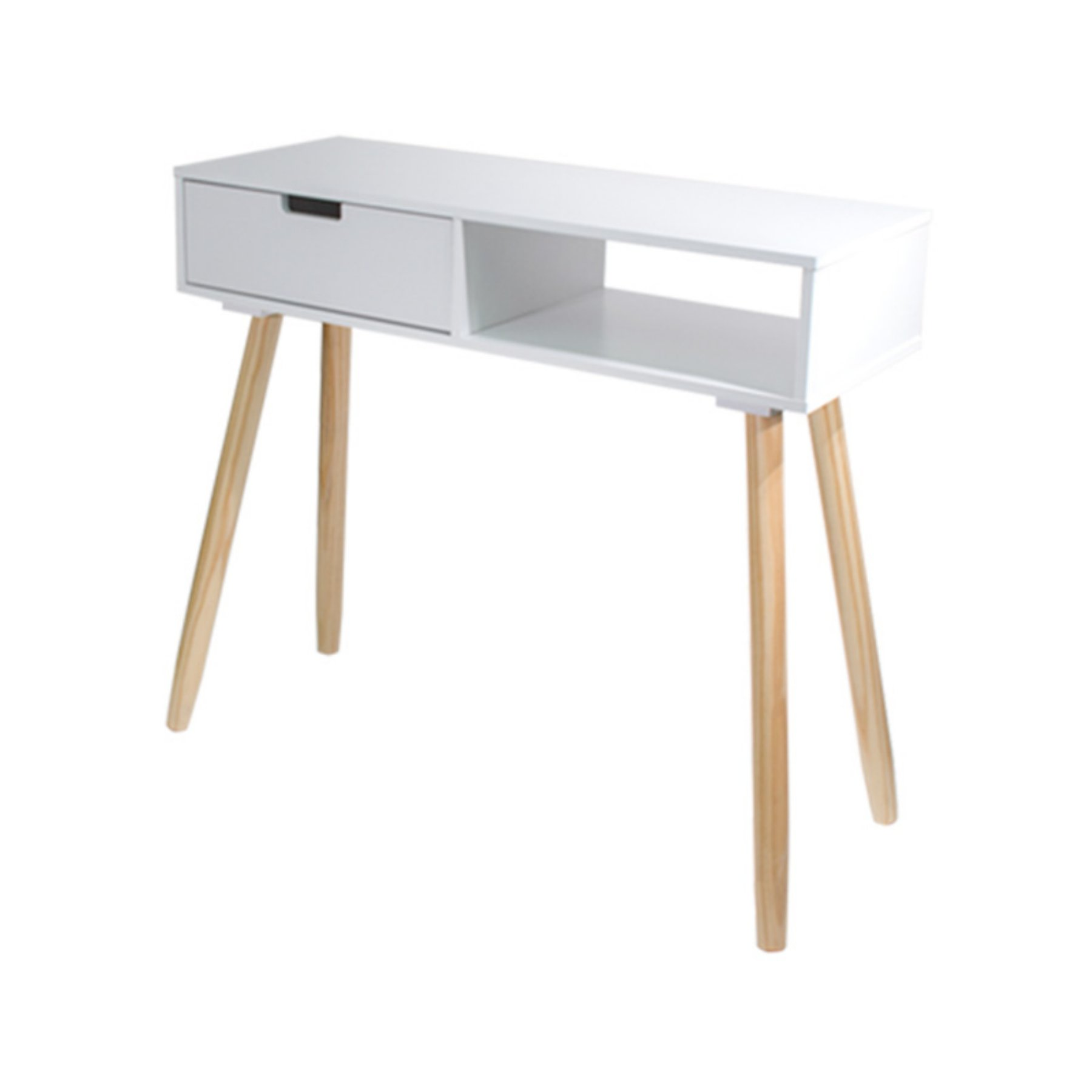 Jia Home Dory Mid Century Modern Console Table  White